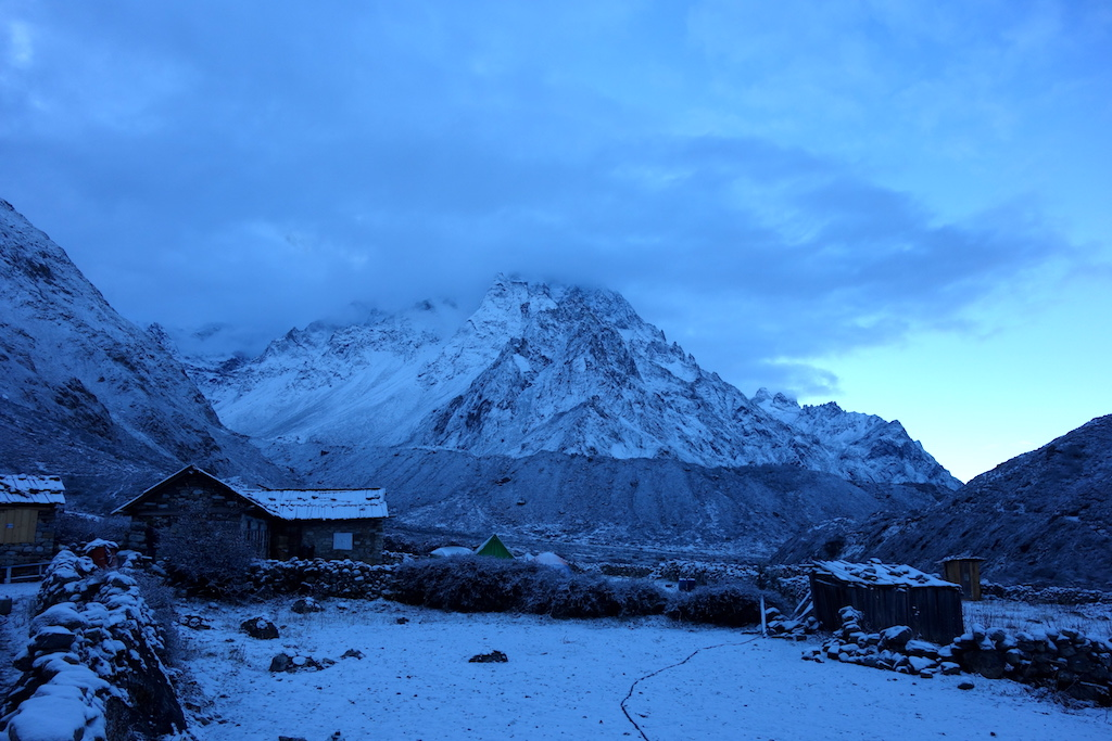Fresh snow in Khangpachen.